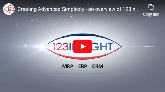 123insight MRP Software - Advanced Simplicity